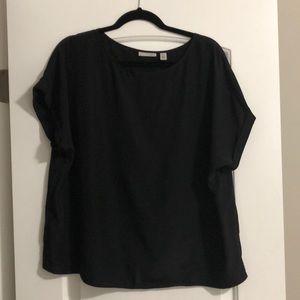Halogen black shell short sleeved top